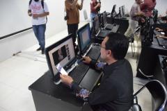 Kampanye Stop Joged Jaruh bertempat di salah satu lab komputer STIKOM Bali